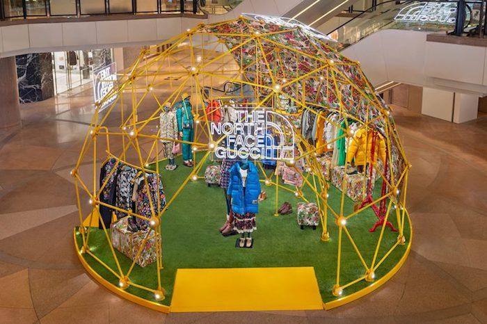 Rozšířenou realitu využila i luxusní značka Gucci k podpoře své kolekce, kterou vytvořila ve spolupráci s The North Face, zdroj: Harbour City.