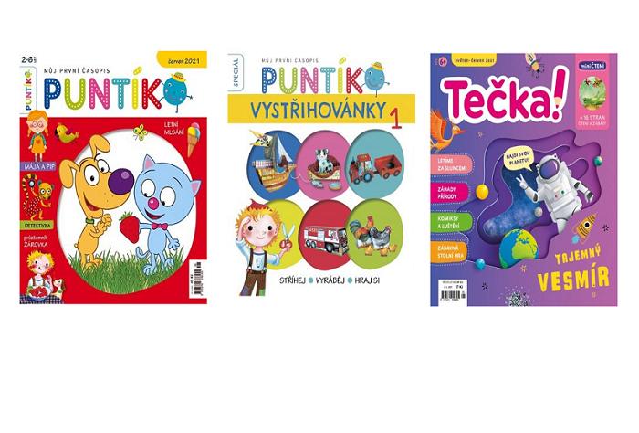 Titulní strany časopisů vydavatelství MediaKids Publishing