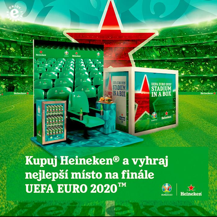 Heineken soutěží o tzv. Stadio v krabici, zdroj: Heineken.