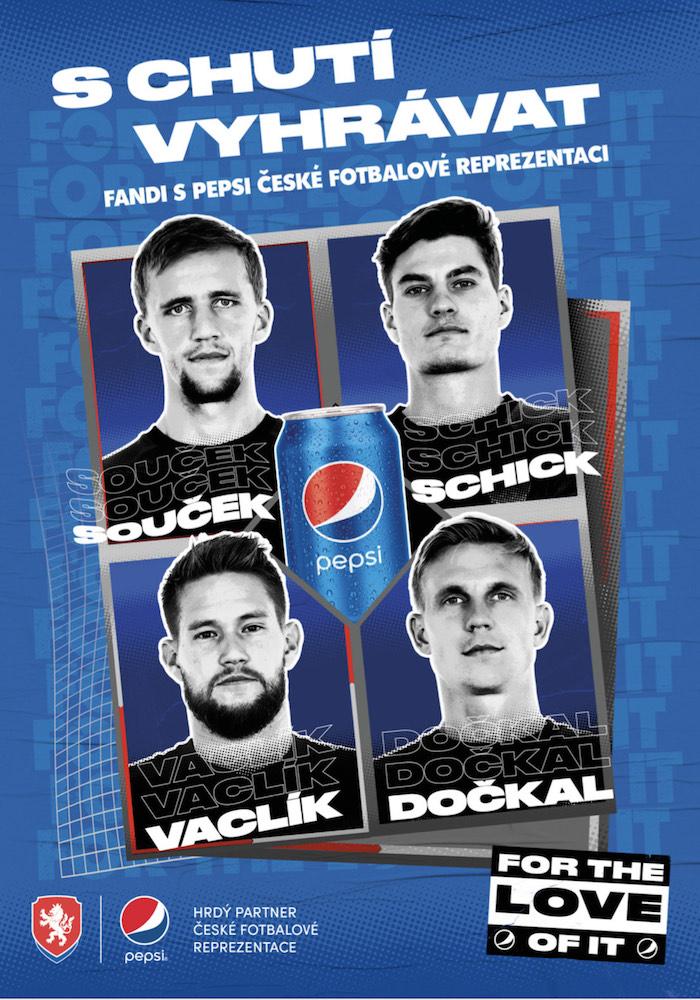 Klíčový vizuál k fotbalové kampani značky Pepsi, zdroj: PepsiCo