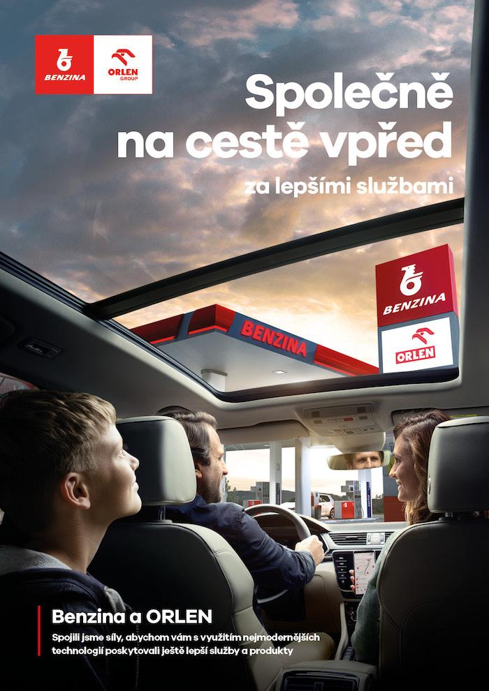 Klíčový vizuál k imageové kampani sítě Benzina Orlen, zdroj: Orlen Unipetrol