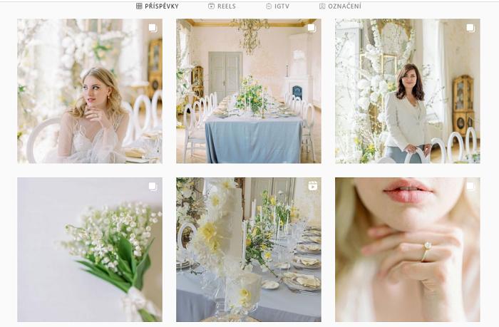 Zdroj: instagramový účet Boutique Weddings Prague