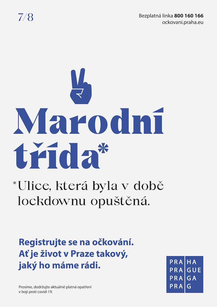 Jeden z vizuálů další očkovací kampaně Magistrátu hl. m. Praha, zdroj: DDB Prague
