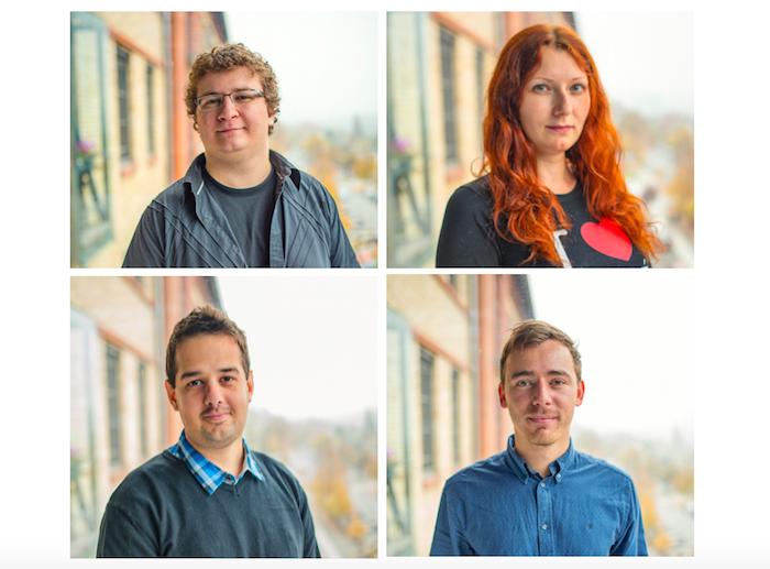 Tomáš Volf, Hana Erskine, Aleš Kýr a Jakub Marcin přicházejí do agentury Etnetera Motion, foto: Etnetera Motion.