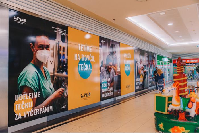 Podle odhadované návštěvnosti má kampaň v nákupních centrech šanci oslovit až 35 mil. návštěvníků, zdroj: ANCČR.