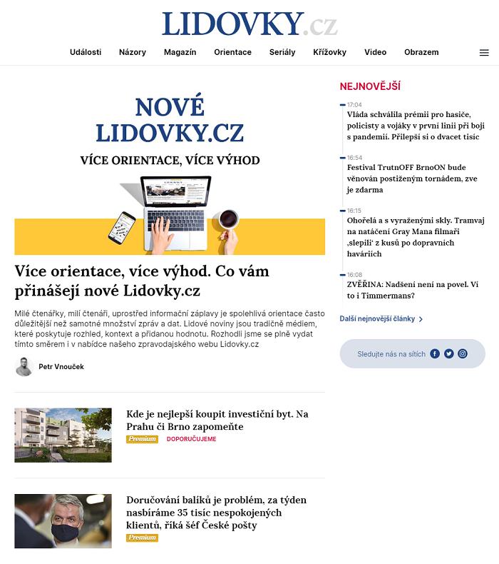 Nová podoba homepage