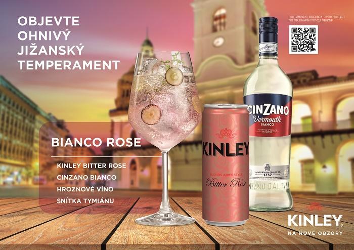 Značka Kinley nabízí i možnosti na míchané drinky, ke kombinacím využívá synergií napříč portfoliem, zdroj: The Coca-Cola Company.
