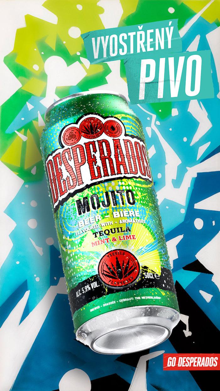 Klíčový vizuál k příchuti Mojito, zdroj: Desperados / Heineken