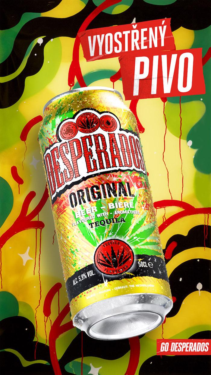 Klíčový vizuál k příchuti Original, zdroj: Desperados / Heineken