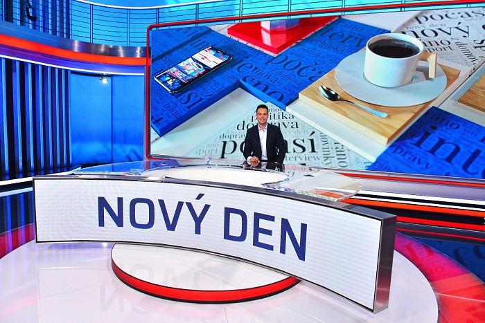 Petr Suchoň ve studiu pořadu Nový den, zdroj: FTV Prima