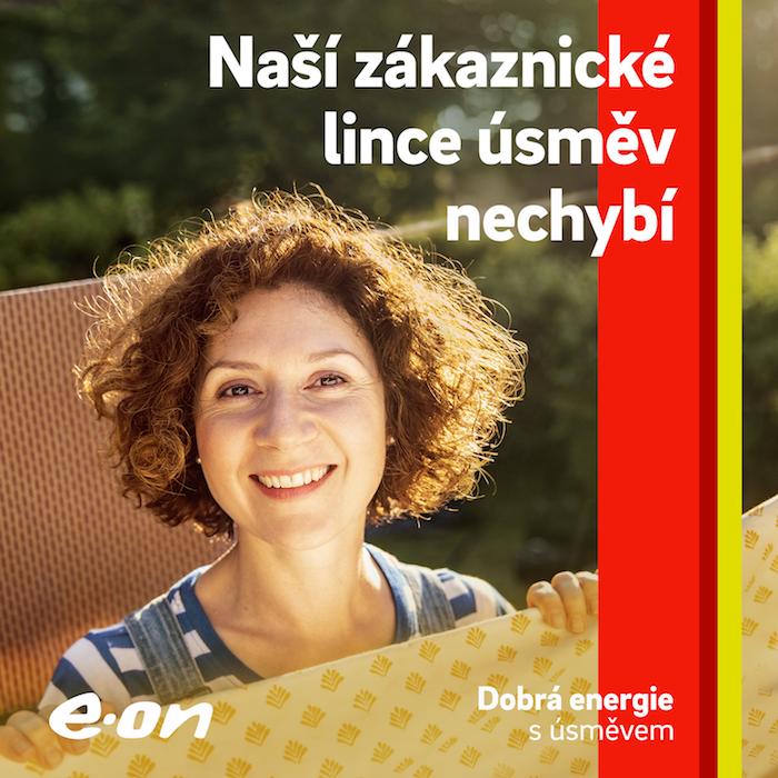 Klíčový vizuál ke kampani Síla úsměvu, zdroj: E.ON