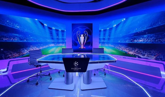 Studio Ligy mistrů O2 TV, zdroj: O2