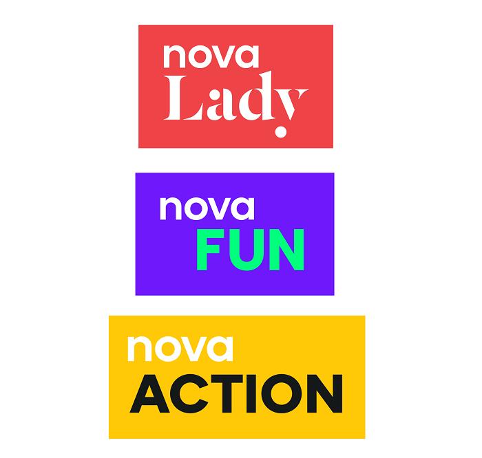Nová loga tematických stanic, zdroj: TV Nova
