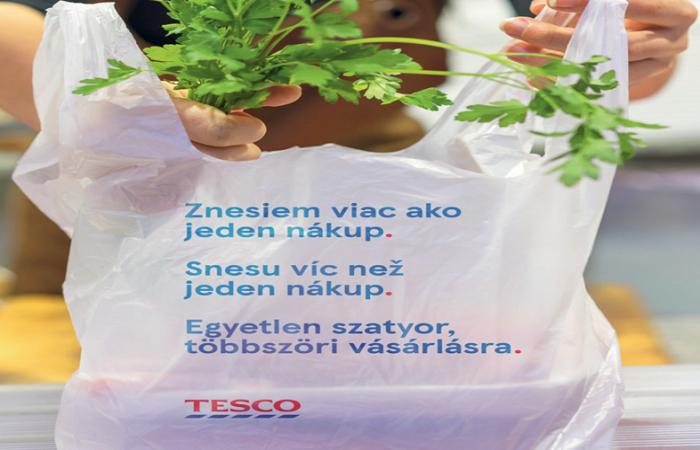 Na výrobu tašek bude ročně použito 150 tun plastového odpadu z provozu obchodů, zdroj: Tesco