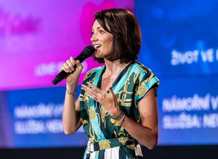 Silvia Majeská na tiskové konferenci k podzimnímu schématu, zdroj: TV Nova