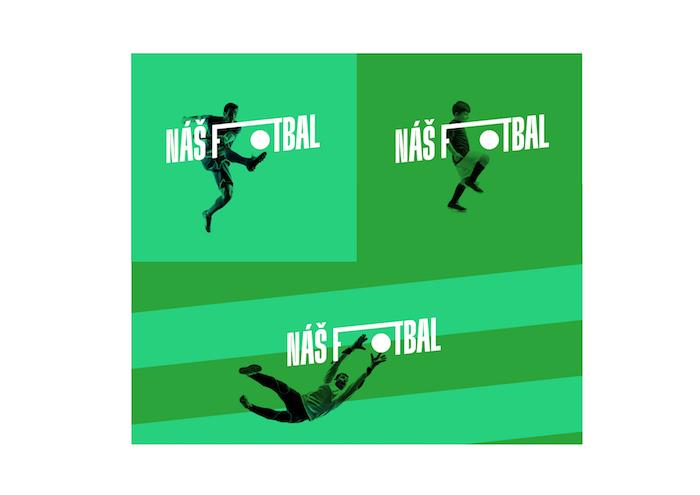 Nová značka Náš fotbal pracuje s dynamickým logotypem, zdroj: FAČR.