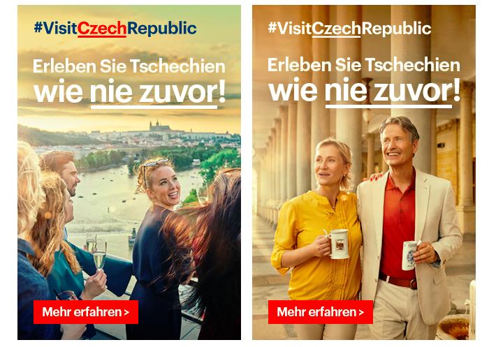 Z aktuální reklamní kampaně CzechTourismu v Německu, zdroj: CzechTourism