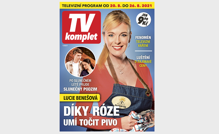 Titulní strana nového titulu TV komplet, zdroj: Empresa Media