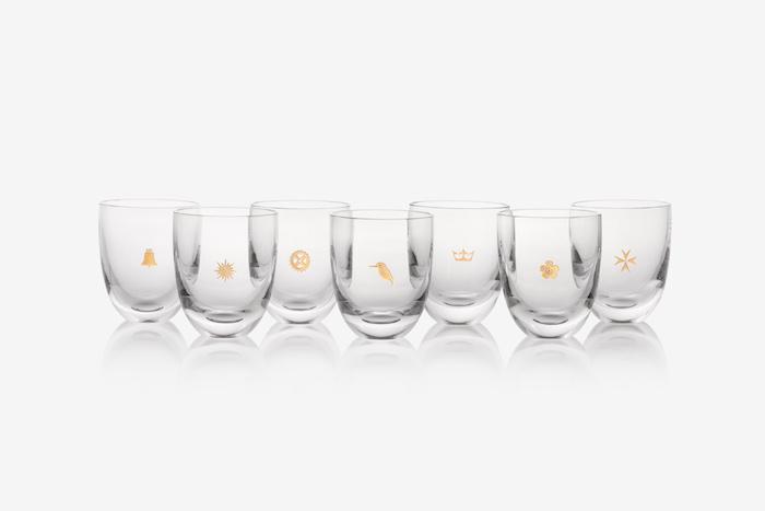 Limitovanou edici sklenic z křišťálového skla navrhl pražský designér Rony Plesl, zdroj: Prague City Tourism.