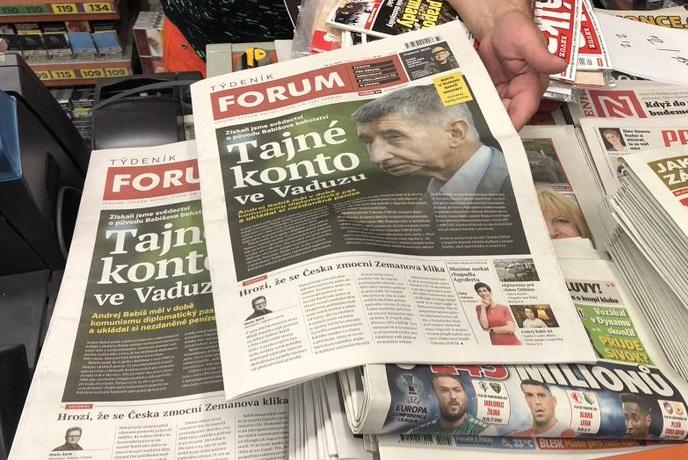 První titulní strana Týdeníku Forum, zdroj: twitterový účet šéfredaktora Pavla Šafra
