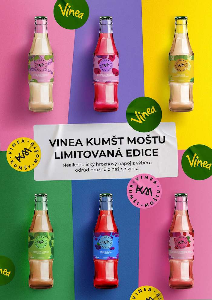 """Klíčový vizuál ke kampani značky Vinea """"Kumšt moštu"""", zdroj: Vinea / Kofola ČS"""