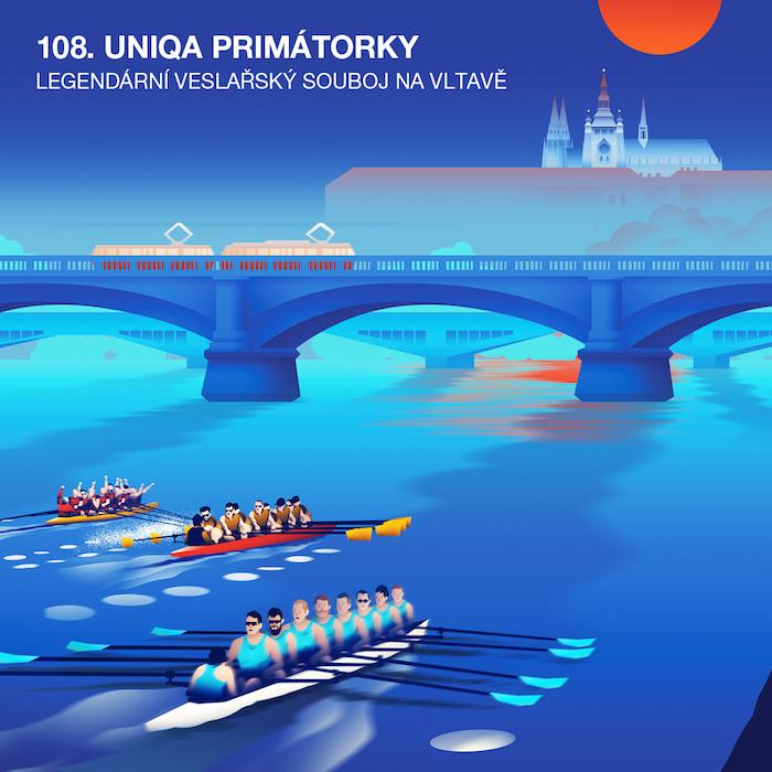 Vizuál veslařského závodu 108. Uniqa Primátorky, zdroj: Raul