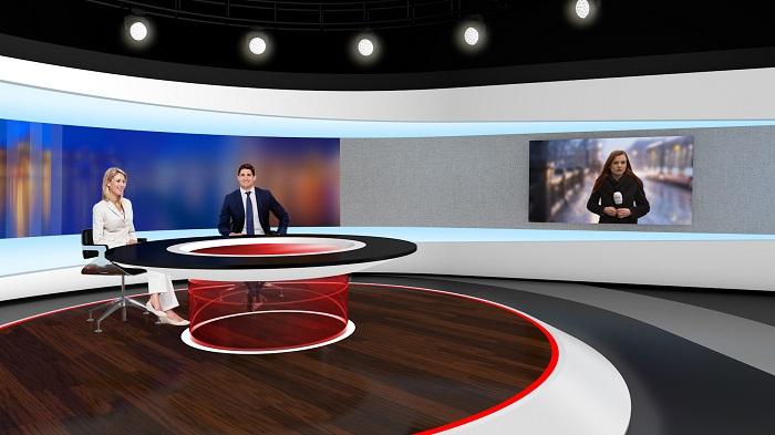 Vizualizace nové podoby zpravodajského studia TV Nova, zdroj: TV Nova