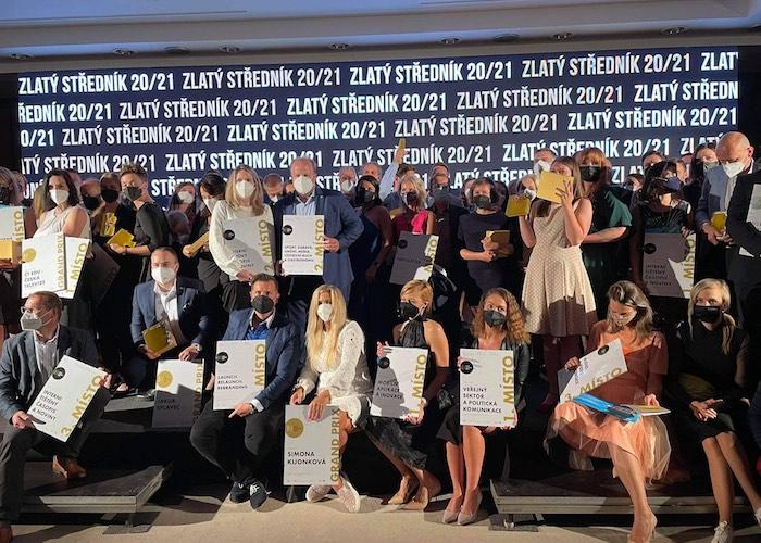 Z vyhlášení soutěže Zlatý středník 20/21, foto: MediaGuru