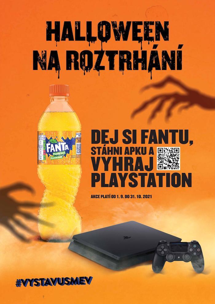 """Klíčový vizuál k akci """"Halloween na roztrhání"""" značky Fanta, zdroj: The Coca-Cola Company"""