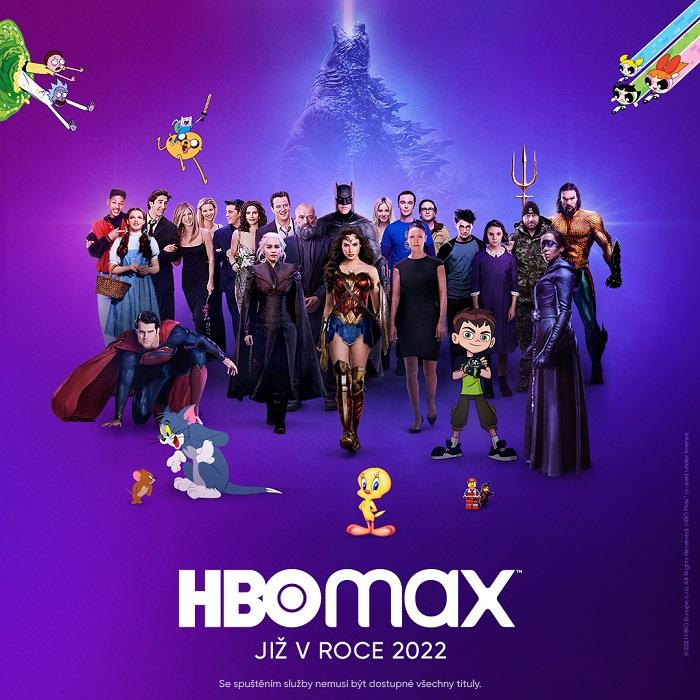 Vizuál HBO Max oznamující příchod služby v roce 2022, zdroj: HBO Max