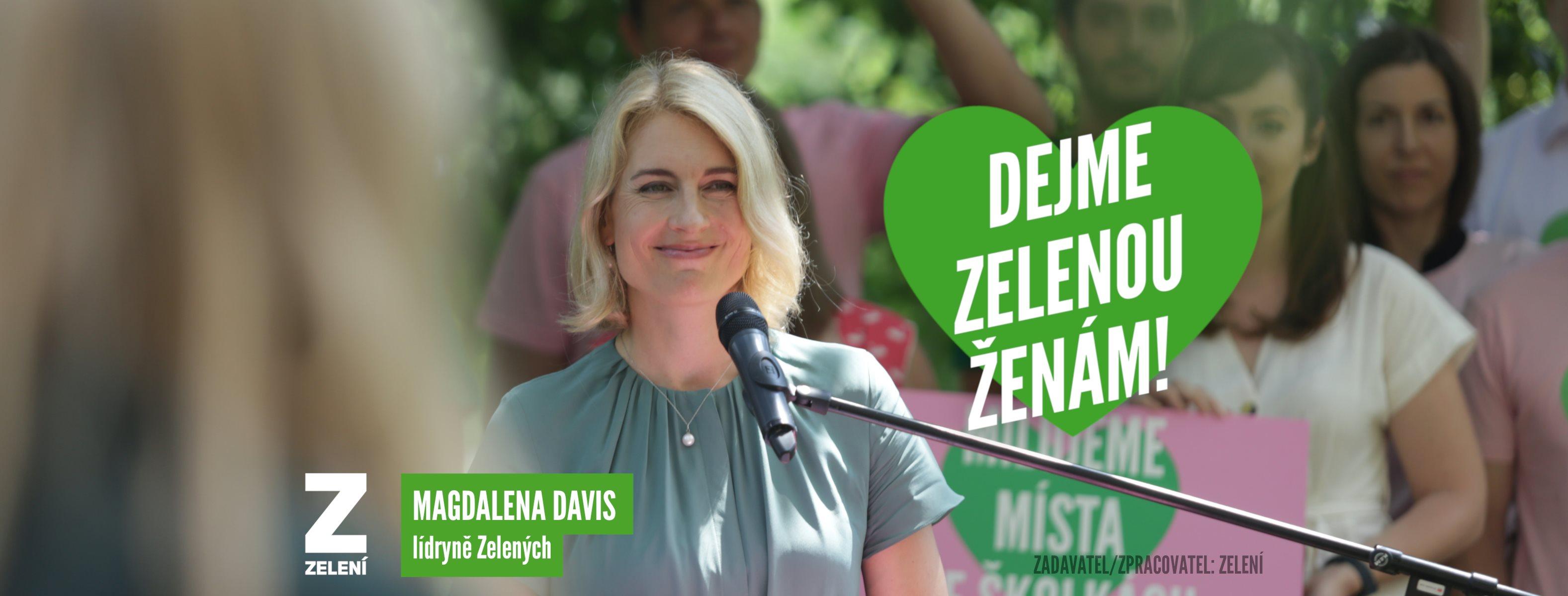 Magdalena Davis. Zdroj: Zelení
