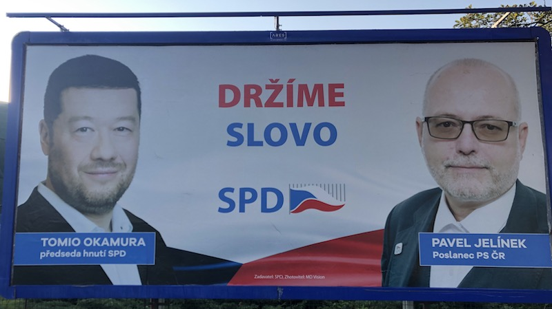 Tomio Okamura a Pavel Jelínek. Zdroj: MediaGuru.cz