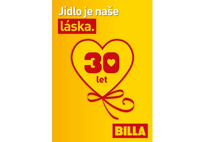 Klíčový vizuál Billa, připomínající 30 let v ČR, zdroj: Billa