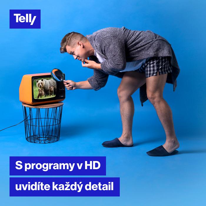 Klíčový vizuál kampaně Telly, zdroj: Telly