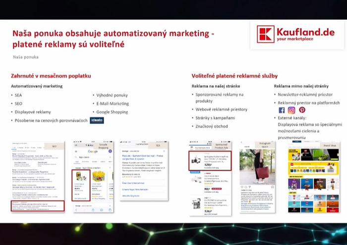 Kaufland.de nabízí prodejcům podporu v komunikaci, zdroj: prezentace M. Birešové na International E-Commerce Summit