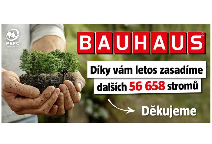 Vizuál reklamní kampaně, ve které Bauhaus děkuje zákazníkům, zdroj: Bauhaus