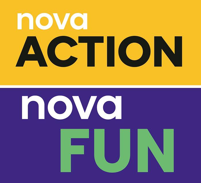 Loga stanic Nova Action a Nova Fun, zdroj: TV Nova