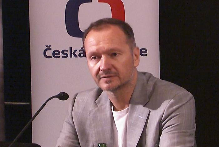 Daniel Grunt na konferenci Digimedia 2021, zdroj: repro Česká televize