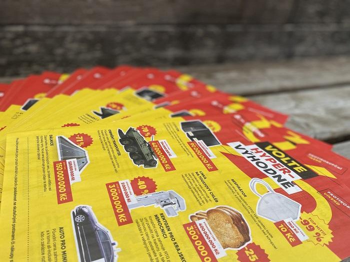 Letáky pro reklamní kampaň Rekonstrukce státu, zdroj: Rekonstrukce státu
