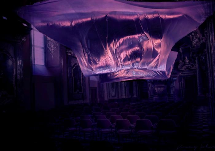 Instalace Unshaped od italského studia Quiet Ensemble v Hauch Gallery, zdroj: Signal festival