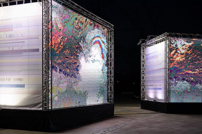 Projekce The Room of Change od italského studia The Accurat, zdroj: Signal festival