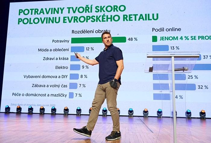 Zatím se jen 4 % evropského retailu potravin prodá online, číslo ale poroste, zdroj: Blue Events