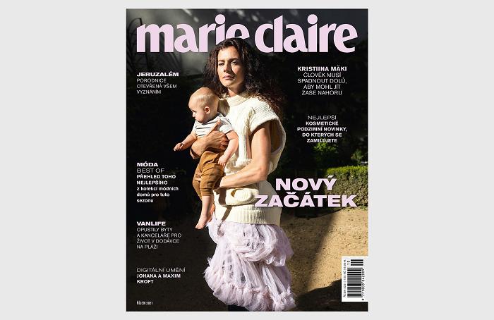 Obálka časopisu Marie Claire, který je v prodeji od 4. října 2021, zdroj: repro Marie Claire