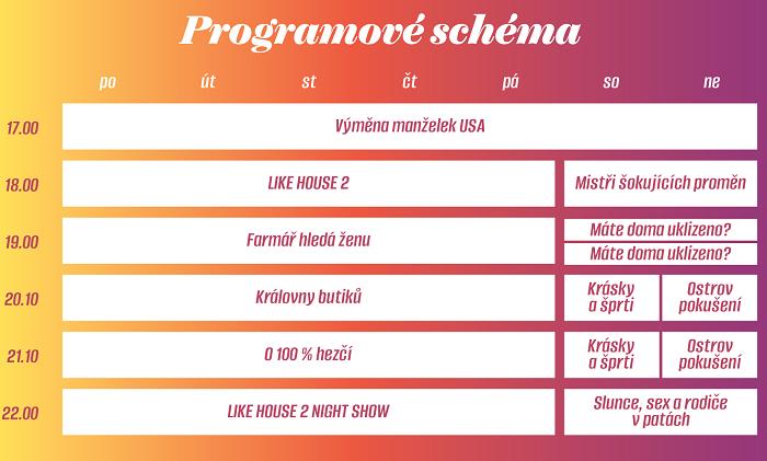 Programové schéma Prima Show, zdroj: FTV Prima