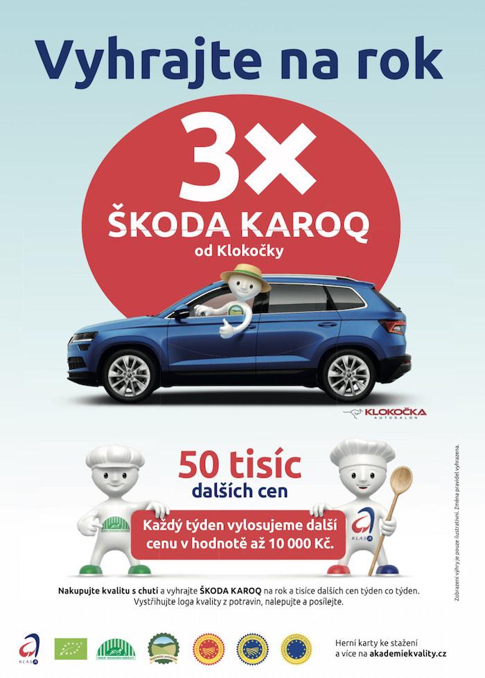 Klíčový vizuál spotřebitelské soutěže pracuje s maskotem Klasáček, zdroj: SZIF.