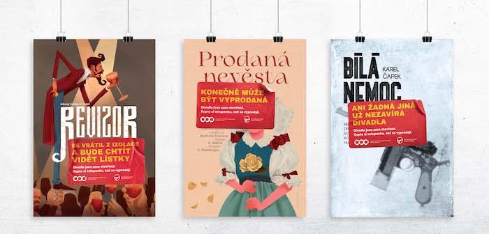 Klíčové vizuály ke kampani na podporu znovuotevření divadel, zdroj: ADC