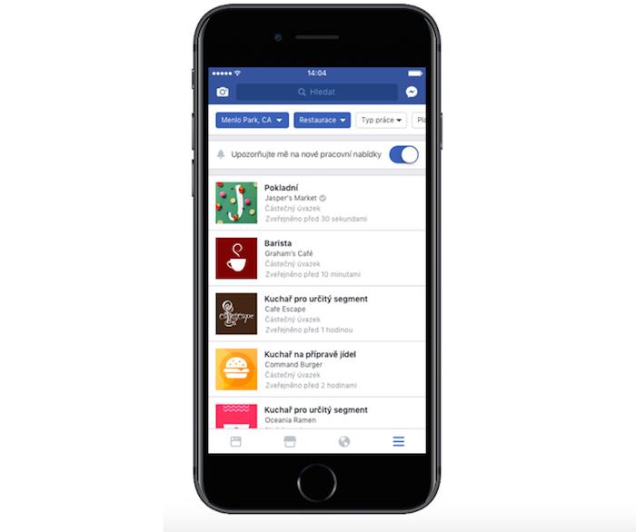 Přehled volných pracovních pozic na Facebook Jobs