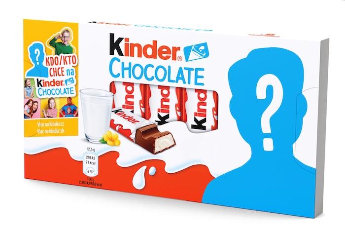 Až 4480 vítězů může získat personalizované balení Kinder Chocolate v tištěné podobě, zdroj: Ferrero.