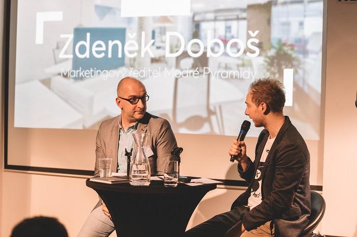 Zdeněk Doboš (vlevo) v rozhovoru s Pavlem Galíkem (PHD), foto: PHD
