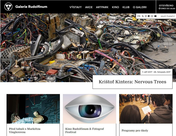 Podoba nového webu Galerie Rudolfinum, foto: Galerie Rudolfinum
